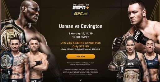 UFC 245 on ESPN+