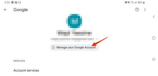 Manage Account