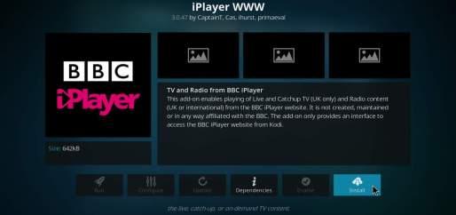 Install BBC iPlayer Kodi