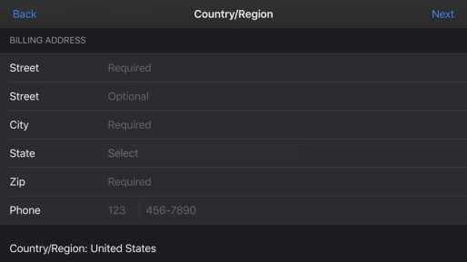 Submit Credentials iOS