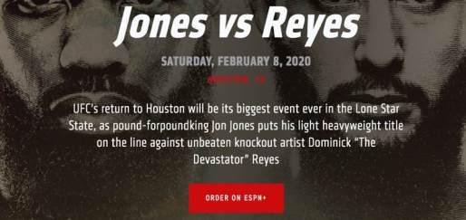 UFC 247 ESPN+