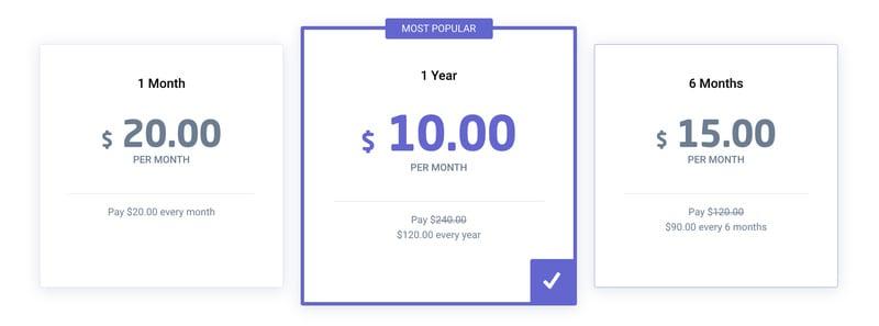 Astrill VPN pricing