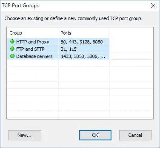 TCP Port Groups