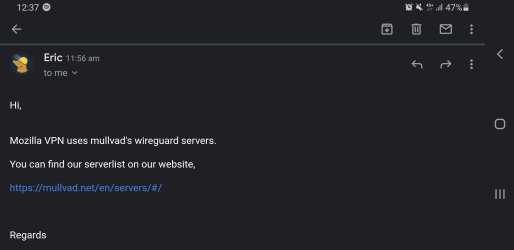 Mozilla VPN Servers