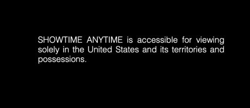 Showtime Error