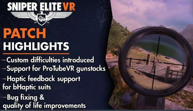 This image has an empty alt attribute; its file name is Sniper-Elite-VR-patch-update.jpg
