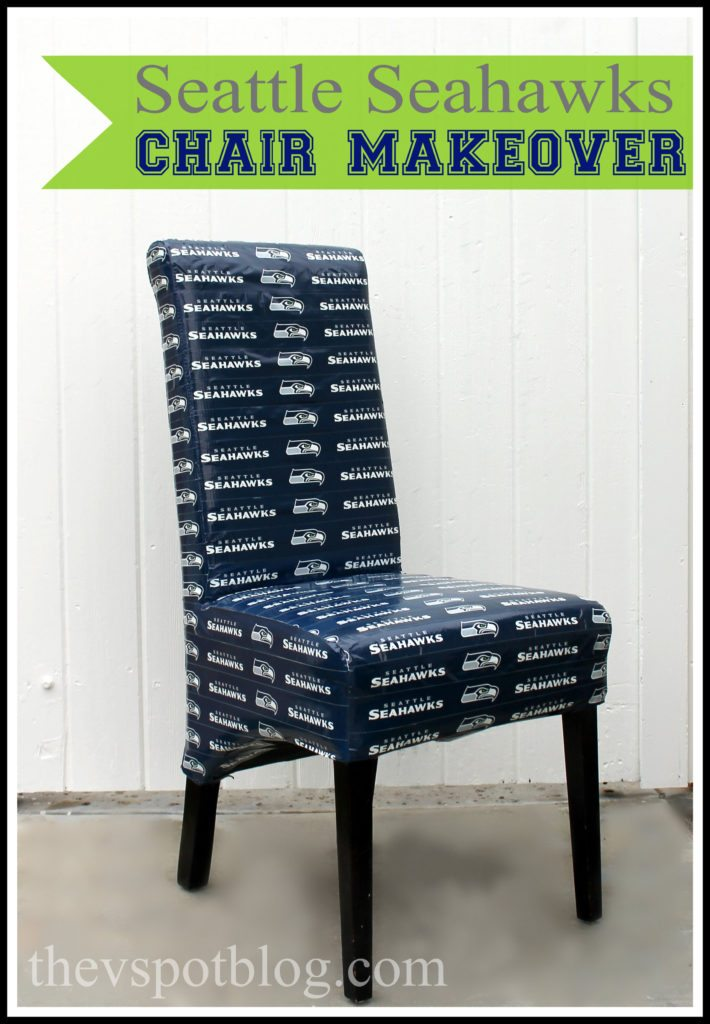 A Seattle Seahawks Chair Make Over With NFL Duck Tape
