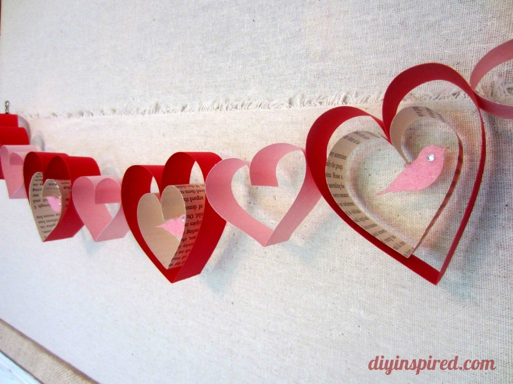 Simple Valentine Garland Craft The V Spot