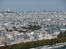 Views from the Eiffel Tower towards Sacré-Cœur Basilica