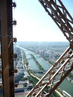Views from the Eiffel Tower towards Allée des Cygnes