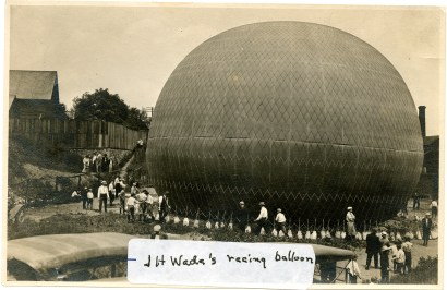 """""""JH Wade Jrs' Racing Balloon"""" Photo Courtesy of Western Reserve Historical Society"""