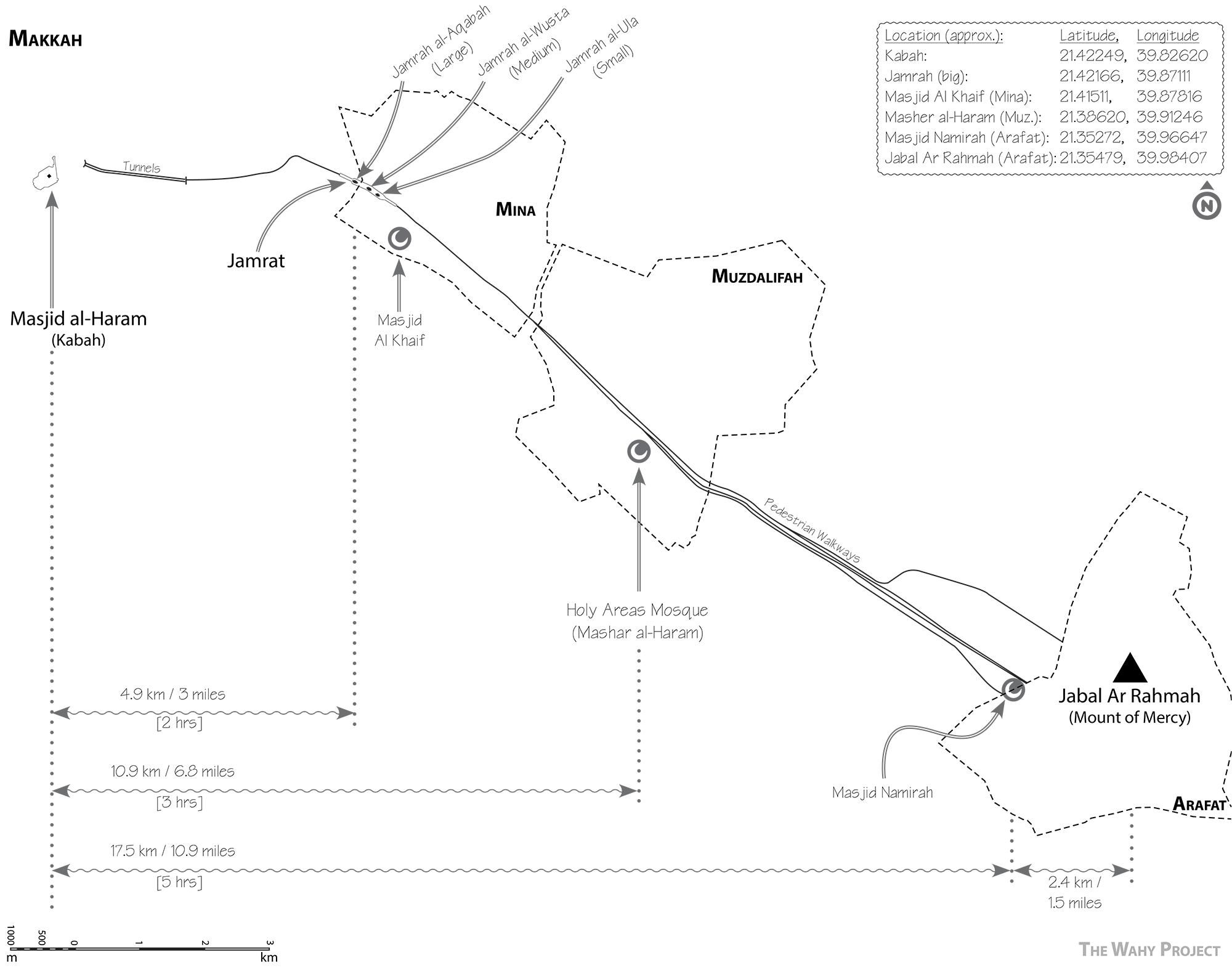 Map Of Hajj Locations