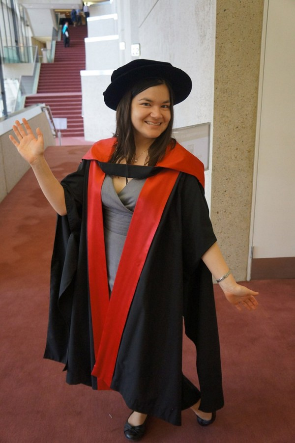 In my academic regalia