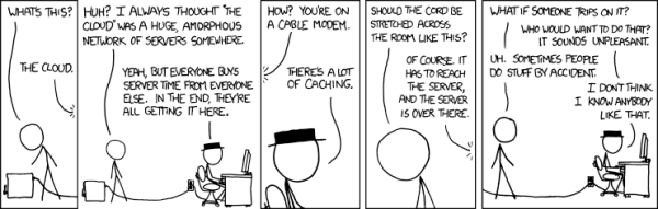 the cloud cartoon by xkcd