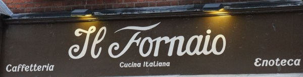 photograph of Il Fornaio sign
