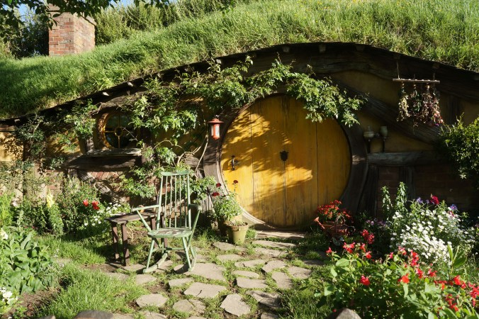 photograph of Hobbit hole in Matamata New Zealand
