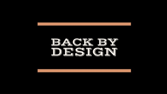 header image that says back by design
