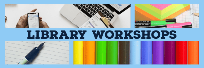library workshops banner