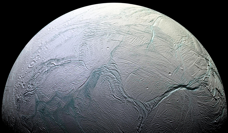 Enceladus is only 314 miles across.