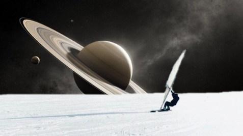 Wind-surfing Enceladus.