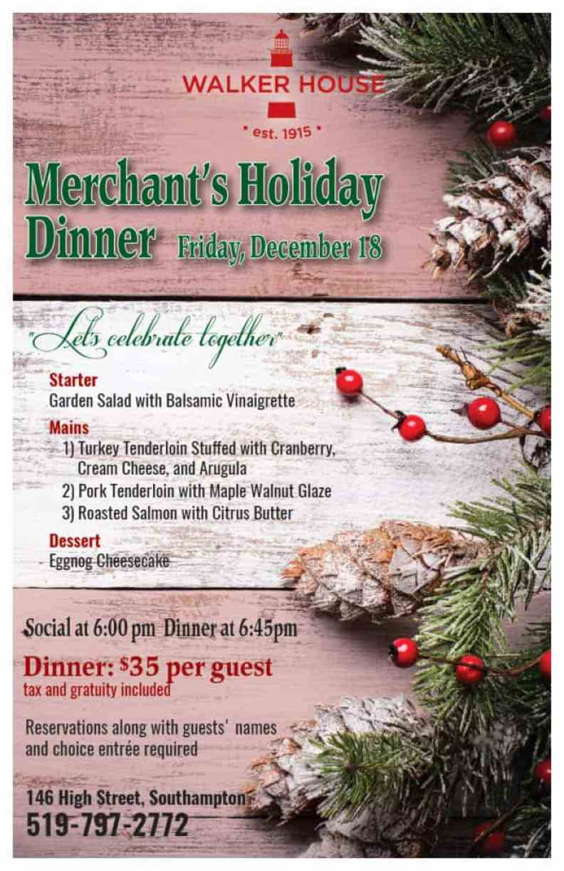 Merchants dinner poster