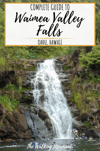 waimea valley falls oahu hawaii north shore overlay