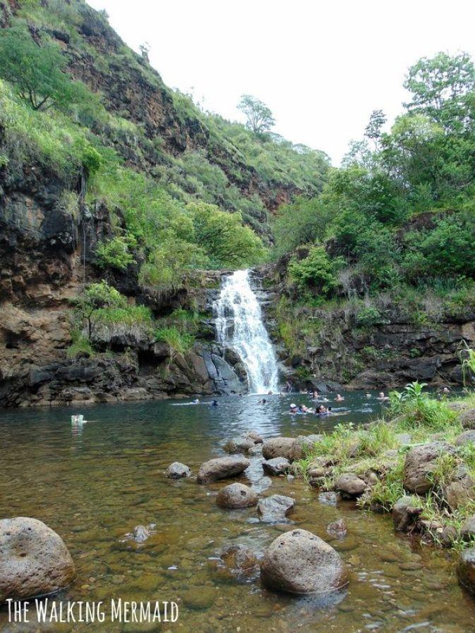 Waimea Falls in Waimea, Hawaii in Oahu.