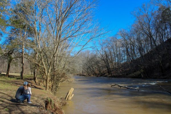 billy dunlop park clarksville tennessee tn father daughter looking over the water river nature