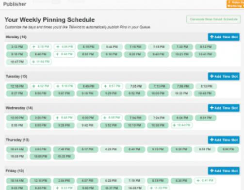 tailwind schedule