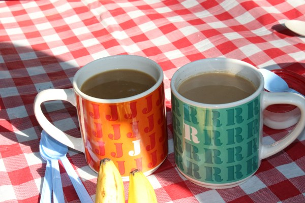 camp coffee mugs camping kitchen breakfast