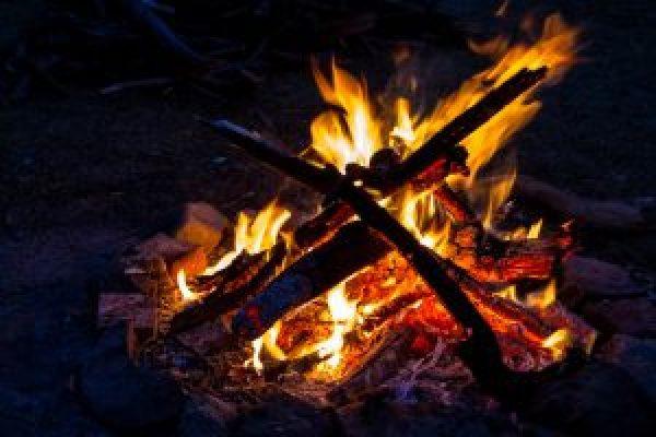 campfire fire photo wood fire