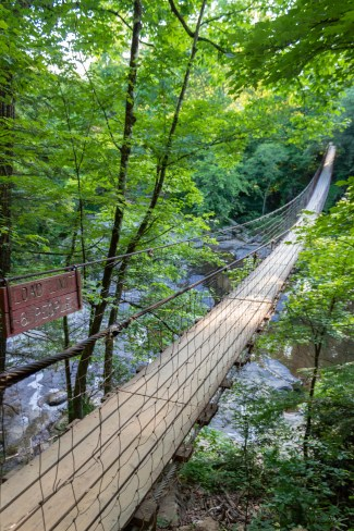 Cane Creek Cascades fall creek falls tennessee suspension bridge state park outdoors nature hiking trails