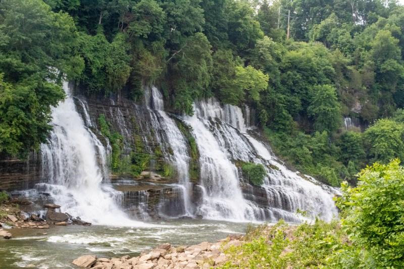 rock island state park tennessee twin falls hiking trail