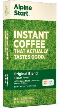 alpine start instant coffee original blend