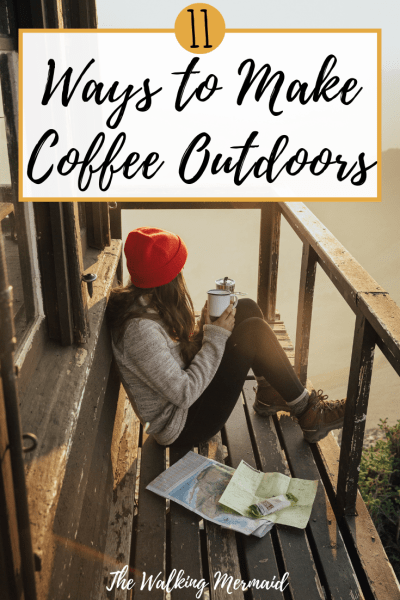 coffee outdoors overlay girl holding a cup of coffee