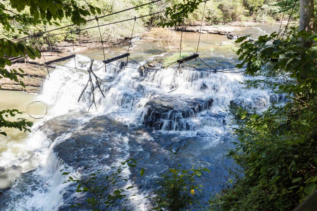 little falls burgess falls state park in tennessee river waterfall hike