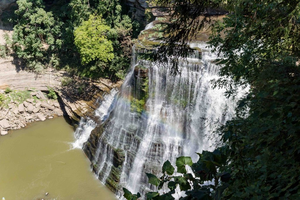 burgess falls state park waterfall overlook in tennessee