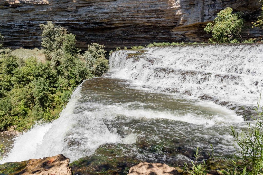 top of waterfall burgess falls state park tennessee