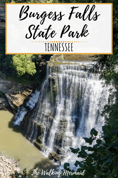 burgess falls state park tennessee waterfall hike overlay