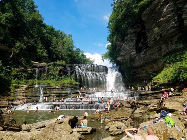 cummins falls state park nashville tennessee waterfall
