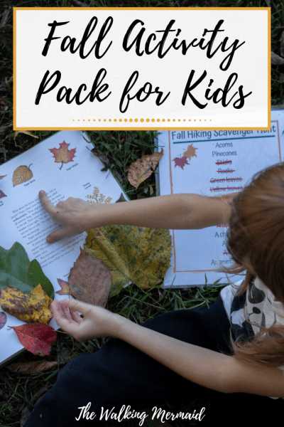 Fall Activity Pack for Kids the walking mermaid overlay