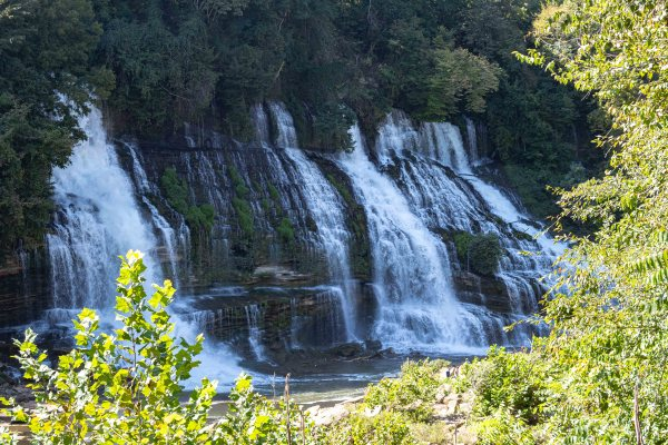 rock island state park tennessee twin falls waterfalls