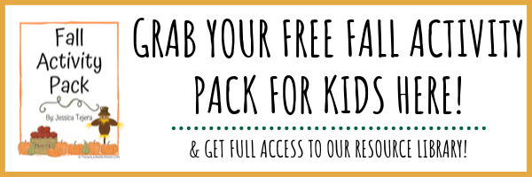free fall activity pack for kids image