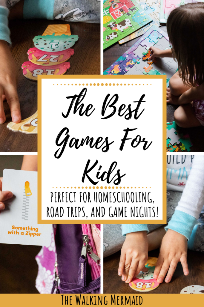 the best games for kids from chuckle and roar at target overlay pinterest image the walking mermaid