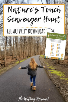 natures touch scavenger hunt sensory play outside outdoors pin image the walking mermaid
