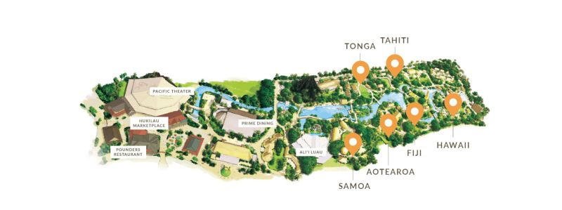 Photo of The Polynesian Culture attraction map.