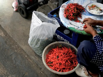 Chili Peppers at the market in Bangkok