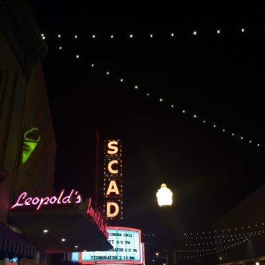 Leopold's Ice Cream at Night