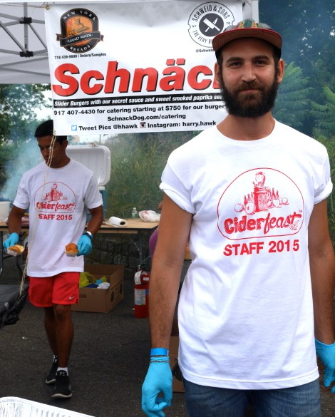 """Specialty Harry Hawk's """"Schnack's"""" sliders provided by Schweid & Sons"""