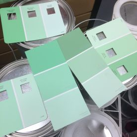 Valspar Mint Hint Paint Day